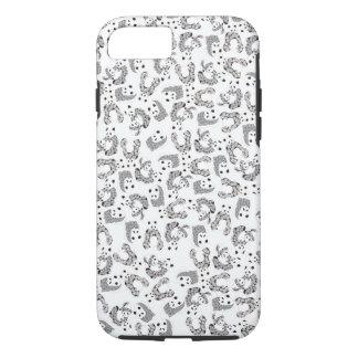 Dancing Pandas Pattern Illustration iPhone 8/7 Case
