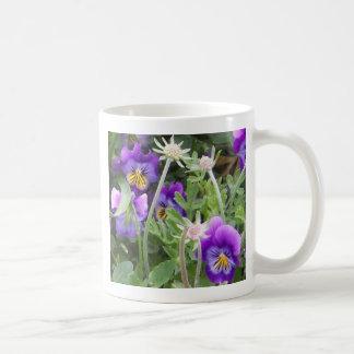 Dancing Pansies Classic White Coffee Mug