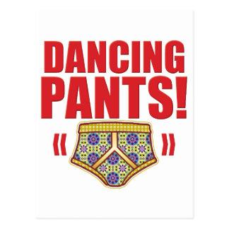 Dancing Pants Flowery Postcard