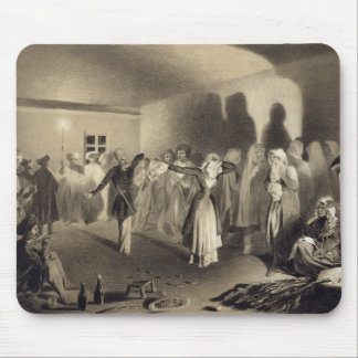 Dancing Party at Kagha-Choura, Dagestan, plate 55 Mouse Pad