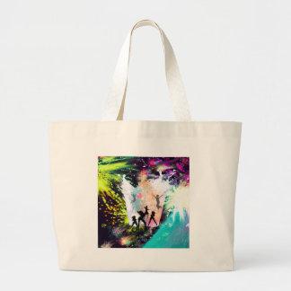 Dancing party large tote bag