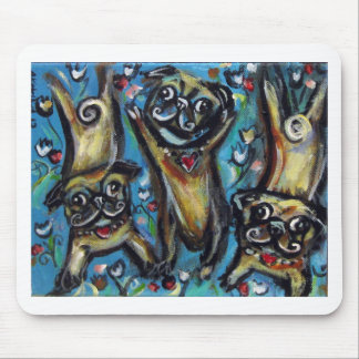 Dancing party Pugs Mouse Pad