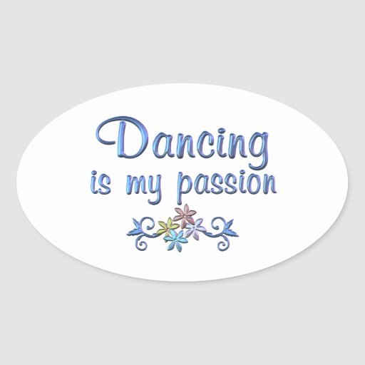 Dancing Passion Oval Sticker