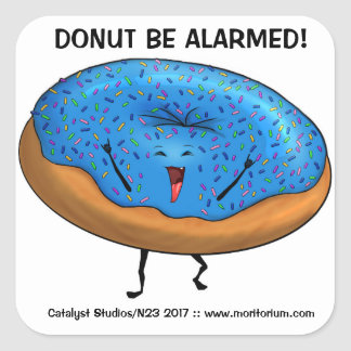 "Dancing Pastry ""Donut Be Alarmed!"" stickers"