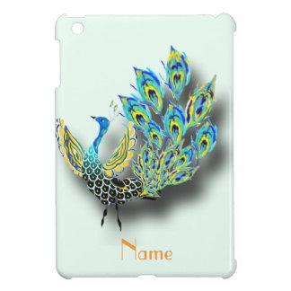 Dancing Peacock monogrammed iPad Mini Cases