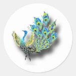Dancing Peacock Sticker