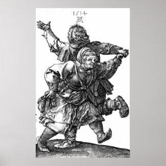 Dancing Peasant Couple 1514 Poster