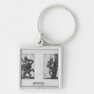Dancing Peasants and a Bagpipe Player, 1514 Keychain