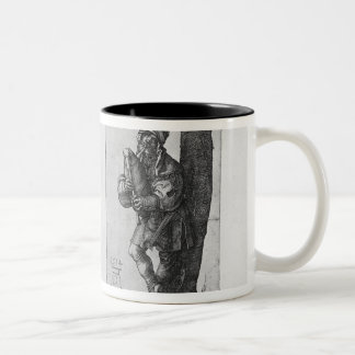 Dancing Peasants and a Bagpipe Player, 1514 Two-Tone Coffee Mug