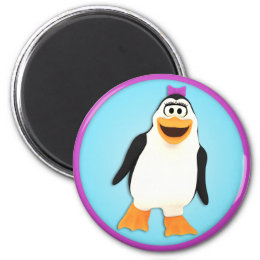 Dancing Penguin Girl Penny Magnet