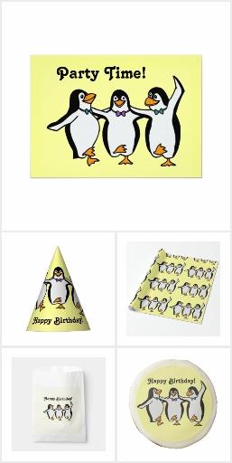 Dancing penguin party gear