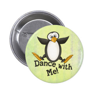 Dancing Penguin Pinback Button