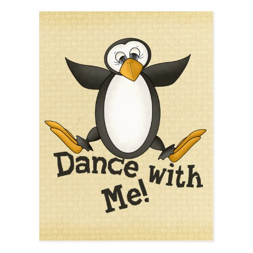 Dancing Penguin Post Cards