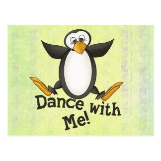 Dancing Penguin Post Cards
