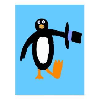 Dancing Penguin Postcard