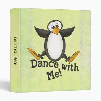 Dancing Penguin Vinyl Binder