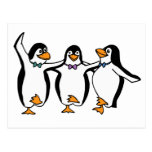 Dancing Penguins Post Cards