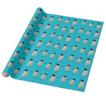 Dancing Penguins Wrapping Paper