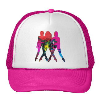 Dancing People Abstract Colors Hat