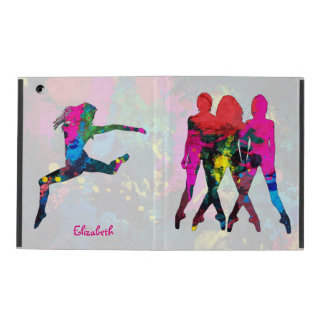 Dancing People Abstract Colors iPad Case