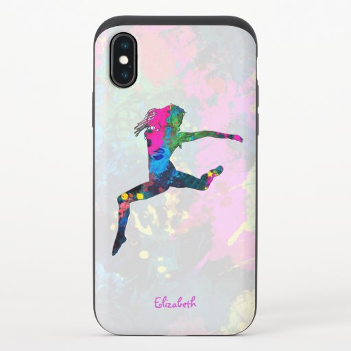 Dancing People Abstract Colors with all shapes iPhone X Slider Case