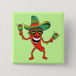 Dancing Pepper Cinco de Mayo Button