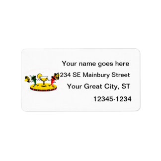 Dancing peppers with drink custom address label