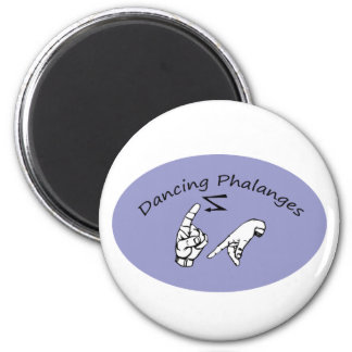 dancing phalanges 2 inch round magnet