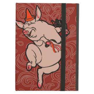 Dancing Pig Vintage Cute Dancer Cover For iPad Air