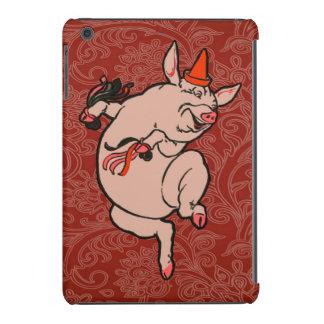 Dancing Pig Vintage Cute Dancer iPad Mini Retina Covers
