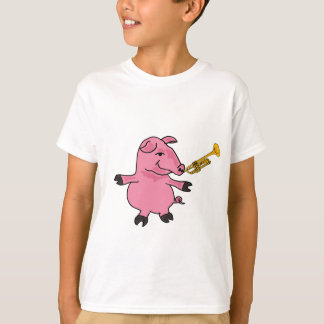 Dancing pig with a Trumpet T-shirt