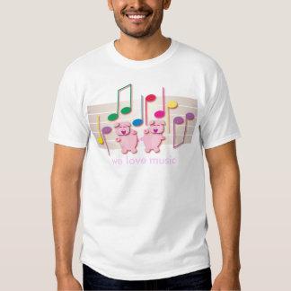 Dancing Piglets:  We love music T-shirt