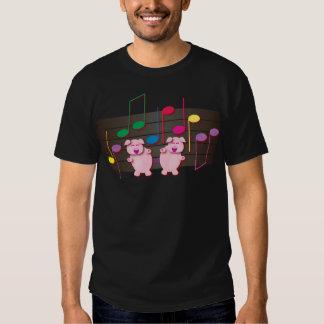 Dancing Piglets:  We love music Tee Shirt