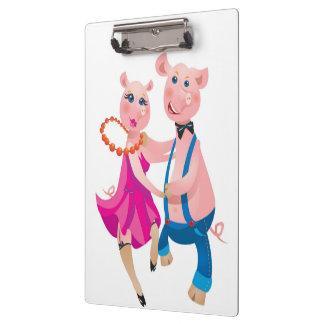 Dancing Pigs Clipboard