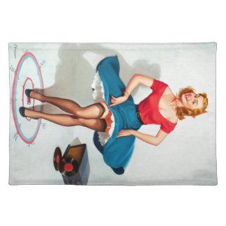 Dancing Pin-up Girl ; Vintage Pinup Art Placemat