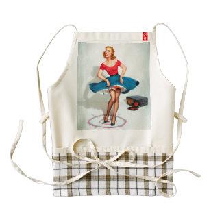Dancing Pin-up Girl ; Vintage Pinup Art Zazzle HEART Apron
