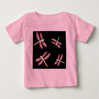 Dancing Pink Dragonfly illustration Baby T-Shirt