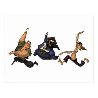 Dancing Pirates Postcard