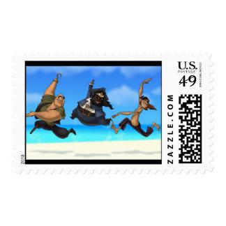 Dancing Pirates Stamps