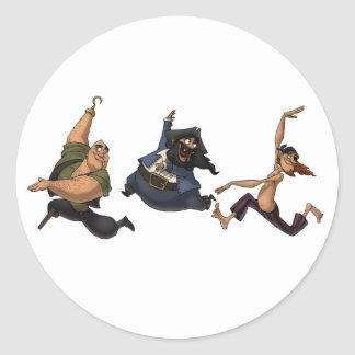 Dancing Pirates Stickers
