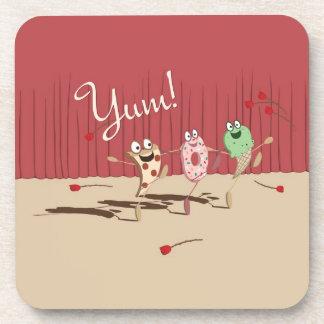 Dancing Pizza, Donut, and Ice Cream coaster, Yum! Coaster