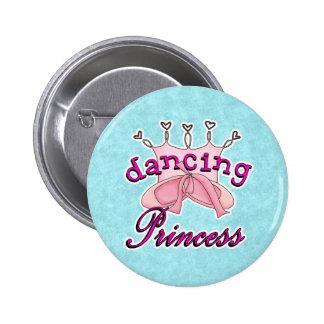 Dancing Princess Ballet Design Button