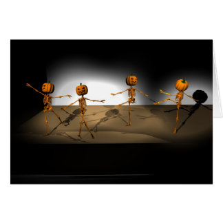 Dancing Pumpkins Card