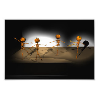 Dancing Pumpkins Art Photo