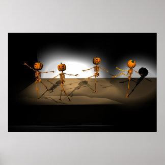 Dancing Pumpkins Poster