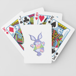 Dancing Purple Easter Bunny Bicycle Playing Cards