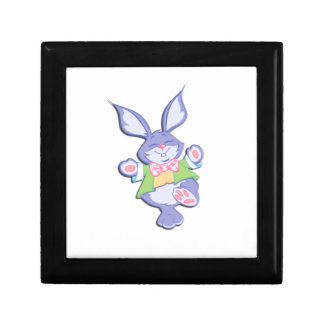 Dancing Purple Easter Bunny Jewelry Box