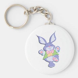 Dancing Purple Easter Bunny Keychain