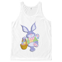 Dancing Purple Easter Bunny Lavender All-Over-Print Tank Top