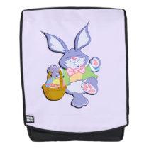 Dancing Purple Easter Bunny Lavender Backpack